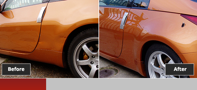 Nissan 350z before and after repair