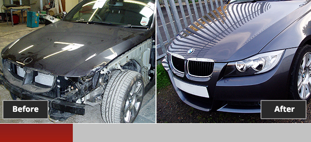 BMW before and after repair