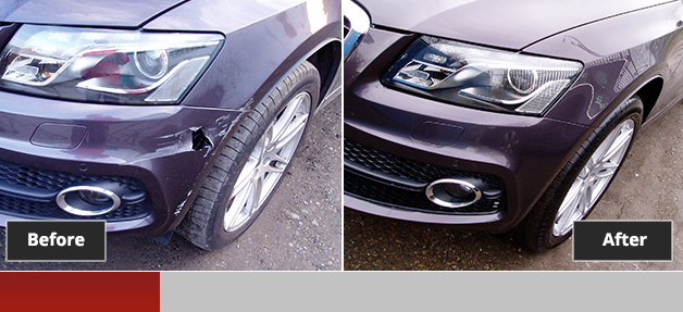 Audi Quattro Q5 before and after repair