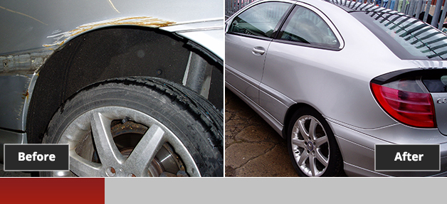 Mercedes C Class before and after repair