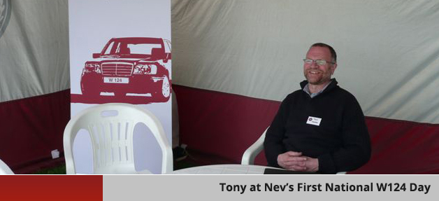 Tony at Ne's First National W124 Day