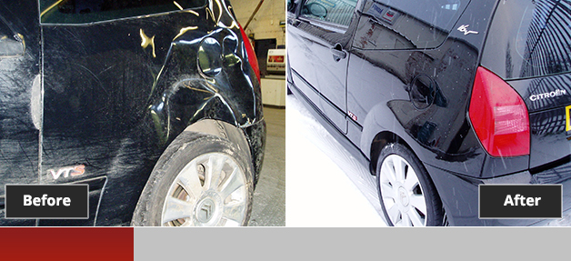 Citroen C2 before and after repair